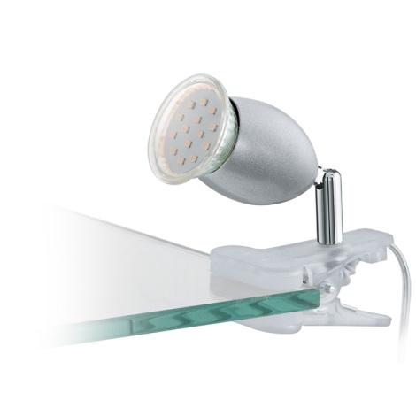 Eglo 93119 - LED csiptetős lámpa BANNY 1 1xGU10/3W/230V