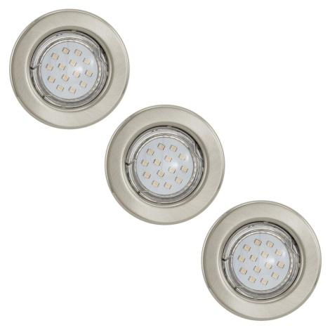 Eglo 93229 - KÉSZLET 3x LED Süllyesztett lámpa IGOA 3xGU10/3W/230V