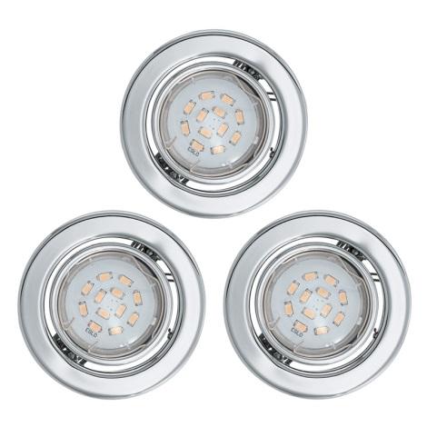 Eglo 93236 - SADA 3x LED süllyesztett lámpa  IGOA 3xGU10/5W/230V