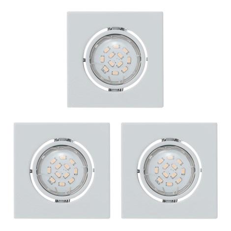 Eglo 93245 - SADA 3x LED beépíthető lámpa IGOA 3xGU10/5W/230V