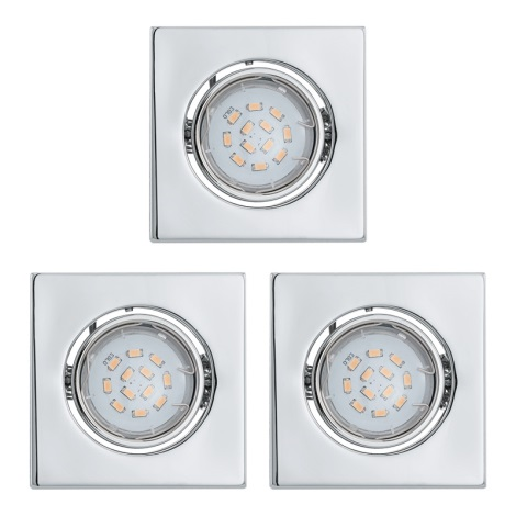 Eglo 93246 - KÉSZLET 3x LED süllyesztett lámpa  IGOA 3xGU10/5W/230V