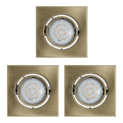 Eglo 93248 - Kôszlet 3x LED beépíthető lámpa IGOA 3xGU10/5W/230V