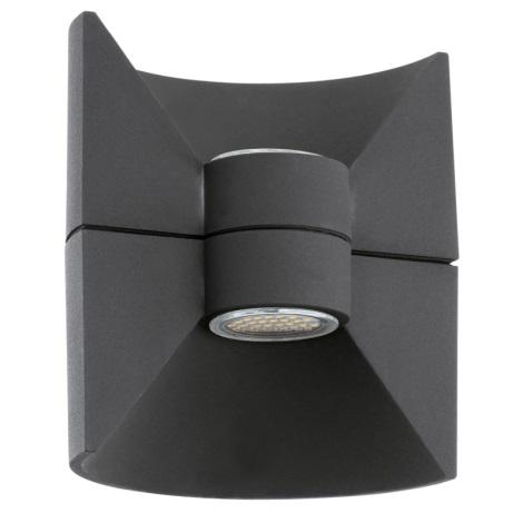 EGLO 93368 - REDONDO LED-es fali lámpa 2xLED-SMD/2,5W antracit