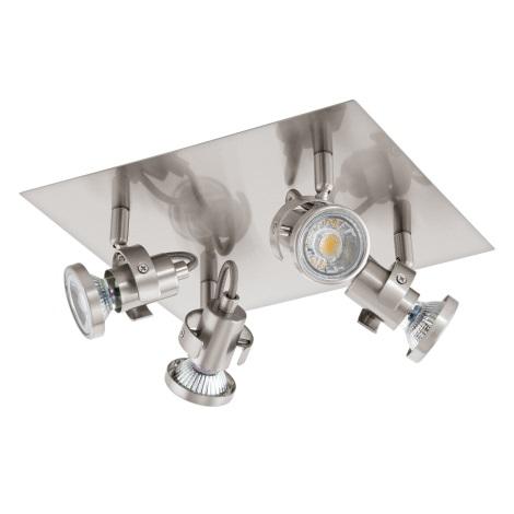 Eglo 94147 - LED Spotlámpa TUKON 4xGU10-LED/3,3W/230V