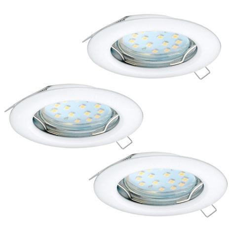 Eglo 94235 - SET 3x LED Beépíthető lámpa PENETO 3xGU10-LED/3W/230V