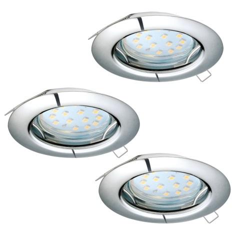 Eglo 94236 - SET 3x LED Beépíthető lámpa PENETO 3xGU10-LED/3W/230V