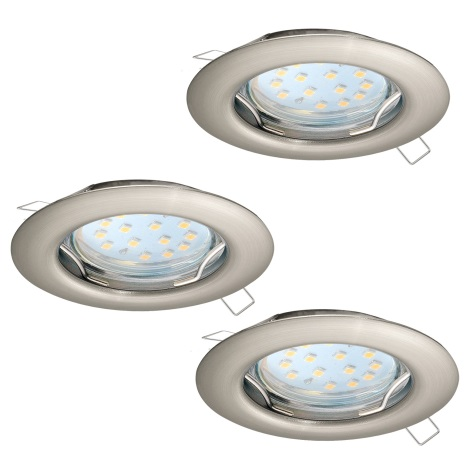 Eglo 94237 - SET 3x LED Beépíthető lámpa PENETO 3xGU10-LED/3W/230V
