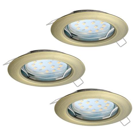 Eglo 94238 - SET 3x LED Beépíthető lámpa PENETO 3xGU10-LED/3W/230V