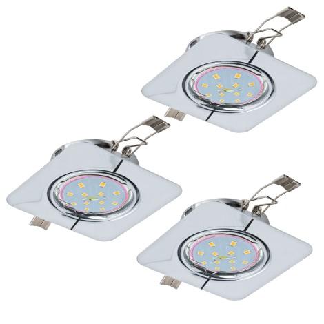 Eglo 94267 - SET 3x LED Beépíthető lámpa PENETO 3xGU10-LED/5W/230V