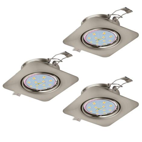 Eglo 94268 - SET 3x LED Beépíthető lámpa PENETO 3xGU10-LED/5W/230V