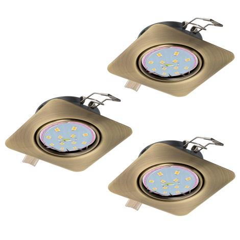 Eglo 94269 - SET 3x LED Beépíthető lámpa PENETO 3xGU10-LED/5W/230V
