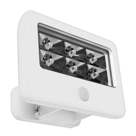 Eglo 94399 - LED Kültéri fali lámpa a mozgásérzékelős GAVELLO LED/0,5W/6xAAA