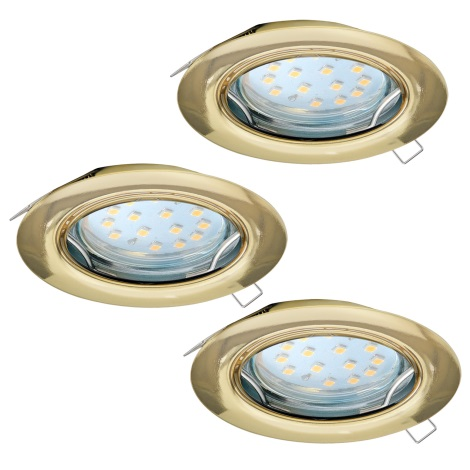 Eglo 94404 - SET 3x LED Beépíthető lámpa PENETO 3xGU10-LED/3W/230V