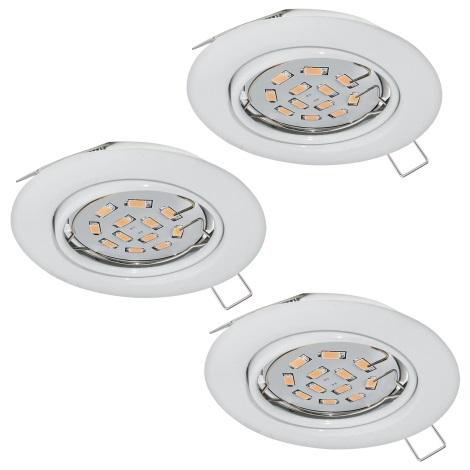 Eglo 94406 - SET 3x LED Beépíthető lámpa PENETO 3xGU10-LED/5W/230V