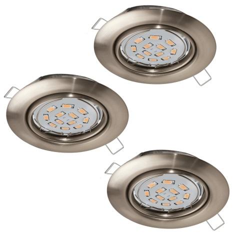 Eglo 94408 - SET 3x LED Beépíthető lámpa PENETO 3xGU10-LED/5W/230V