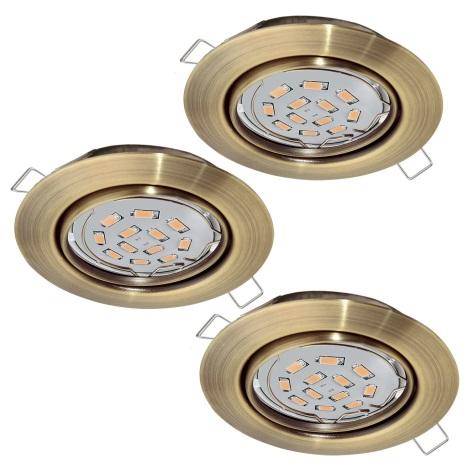 Eglo 94409 - SET 3x LED Beépíthető lámpa PENETO 3xGU10-LED/5W/230V