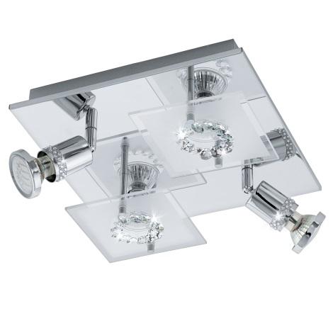 Eglo 94529 - LED Spotlámpa BALERNA 4xGU10-LED/3W/230V kristály