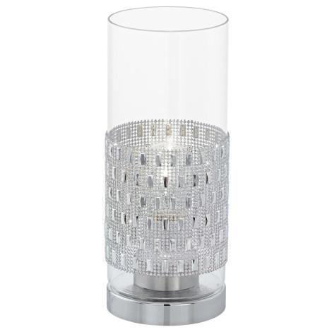Eglo 94619 - Asztali lámpa TORVISCO 1xE27/60W/230V krystaly