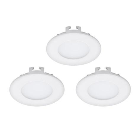 Eglo 94732 - SET 3x LED Beépíthető lámpa FUEVA 3xLED/2,7W/230V