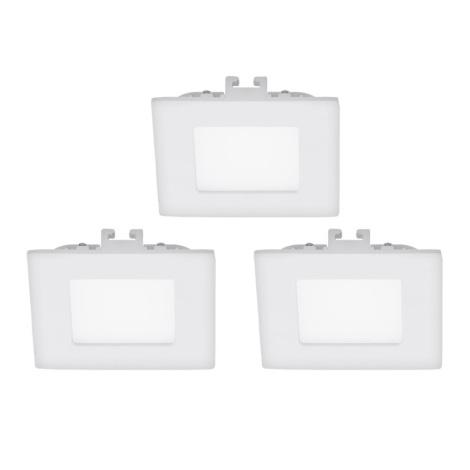 Eglo 94733 - SET 3x LED Beépíthető lámpa FUEVA 3xLED/2,7W/230V