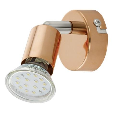 Eglo 94772 - LED Spotlámpa BUZZ-COPPER 1xGU10/3W/230V