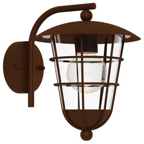 Eglo 94855 - Kültéri lámpa PULFERO 1 1xE27/60W/230V