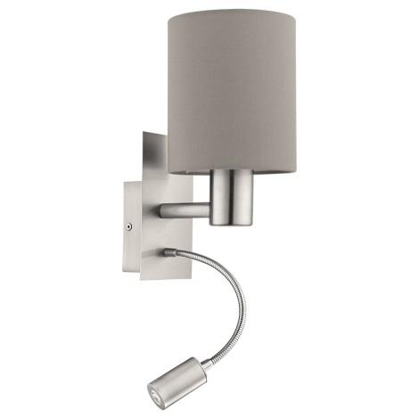 Eglo 94931 - LED Fali lámpa PASTERI 1xE27/60W + LED/2,4W