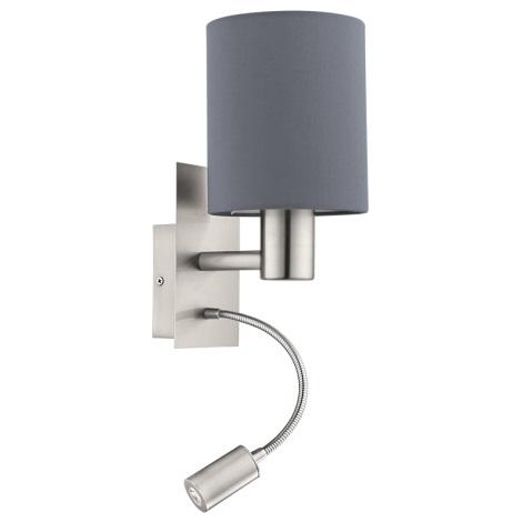 Eglo 94932 - LED Fali lámpa PASTERI 1xE27/60W + LED/2,4W