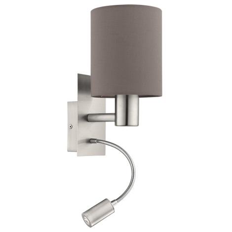 Eglo 94933 - LED Fali lámpa PASTERI 1xE27/60W + LED/2,4W