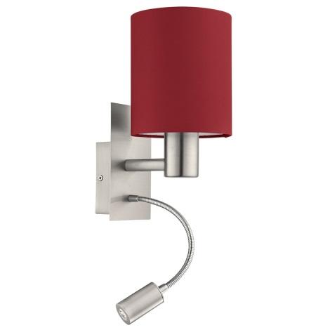Eglo 94934 - LED Fali lámpa PASTERI 1xE27/60W + LED/2,4W