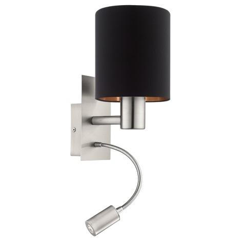 Eglo 95049 - LED Fali lámpa MASERLO 1xE27/60W + LED/2,4W