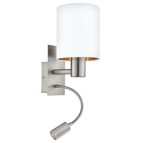 Eglo 95051 - LED Fali lámpa PASTERI 1xE27/60W + LED/2,4W