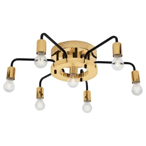 Eglo 95215 - Mennyezeti lámpa PALTAS 7xE27/60W/230V