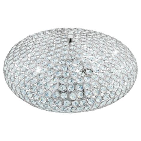 Eglo 95285 - Kristály mennyezeti lámpa CLEMENTE 3xE27/60W/230V