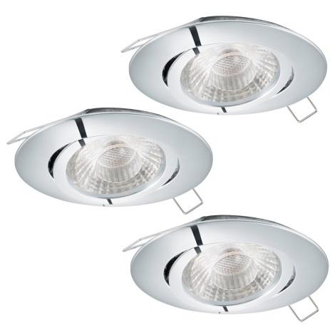 Eglo 95358 - SET 3x LED Beépíthető lámpa TEDO 3xGU10-LED/5W/230V