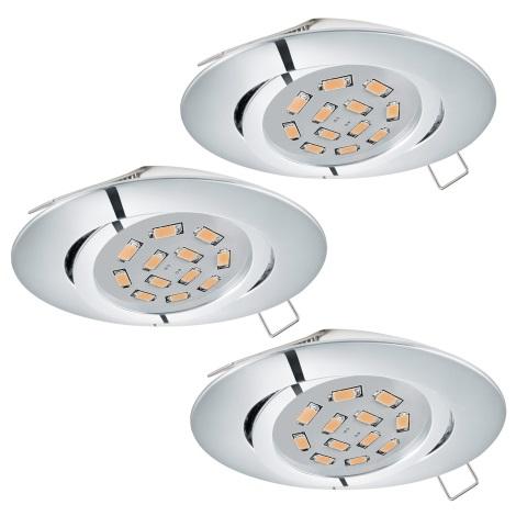 Eglo 95362 - SET 3x LED Beépíthető lámpa TEDO 3xGU10-LED/5W/230V