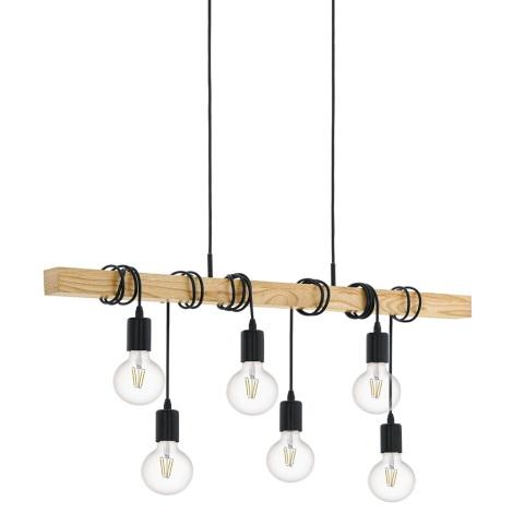 Eglo 95499 - Mennyezeti függesztékes lámpa TOWNSHEND 6xE27/60W/230V
