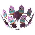 Eglo 95637 - Gyerek mennyezeti lámpa VIKI 2 1xE27/60W/230V rózsaszín