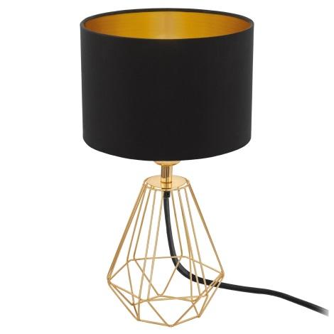 Eglo 95788- Asztali lámpa CARLTON 2 1xE14/60W/230V