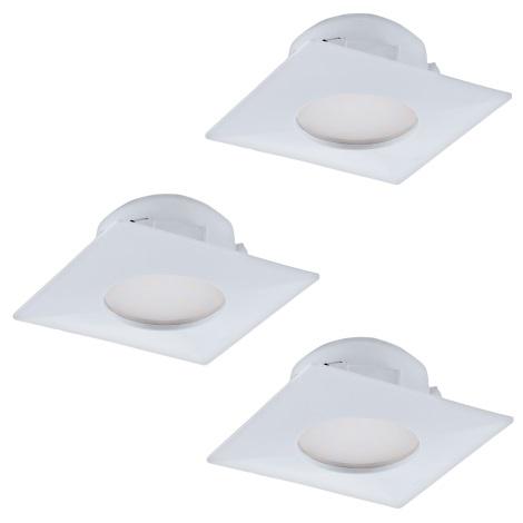 Eglo 95801- SET 3x LED Beépíthető lámpa PINEDA 3xLED/6W/230V
