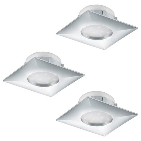 Eglo 95802 - SET 3x LED Beépíthető lámpa PINEDA 3xLED/6W/230V