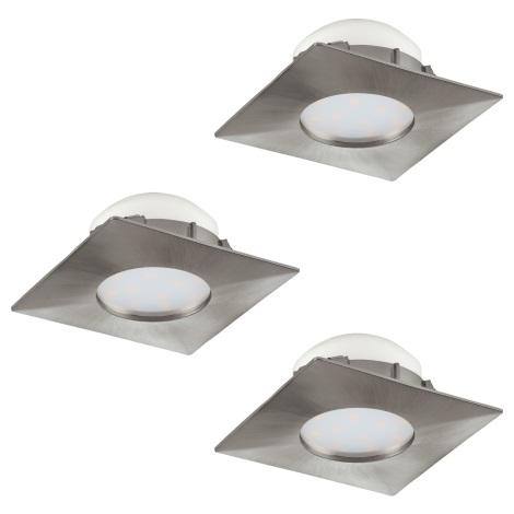 Eglo 95803 - SET 3x LED Beépíthető lámpa PINEDA 3xLED/6W/230V