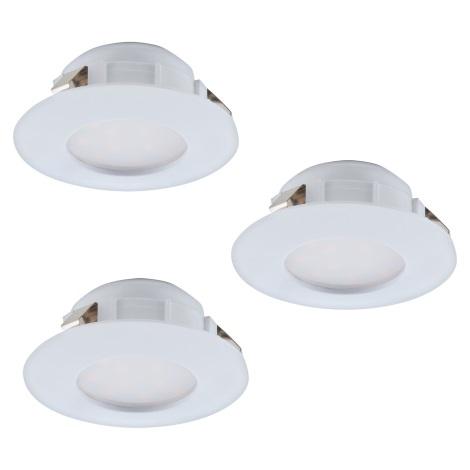 Eglo 95807 - SET 3x LED Beépíthető lámpa PINEDA 3xLED/6W/230V