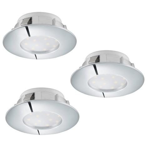 Eglo 95808 - SET 3x LED Beépíthető lámpa PINEDA 3xLED/6W/230V