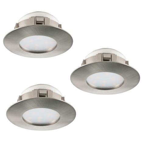 Eglo 95809 - SET 3x LED Beépíthető lámpa PINEDA 3xLED/6W/230V