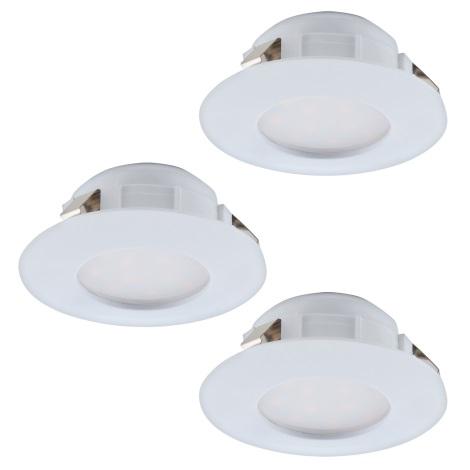 Eglo 95814 - SET 3x LED Beépíthető lámpa PINEDA 3xLED/6W/230V
