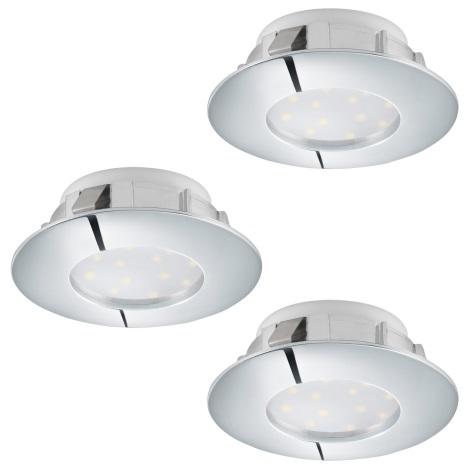 Eglo 95815 - SET 3x LED Beépíthető lámpa PINEDA 3xLED/6W/230V