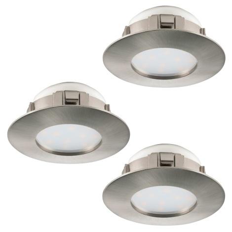 Eglo 95816 - SET 3x LED Beépíthető lámpa PINEDA 3xLED/6W/230V