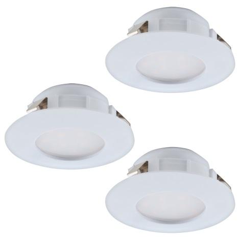 Eglo 95821 - SET 3x LED Beépíthető lámpa PINEDA 3xLED/6W/230V