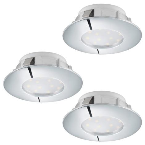 Eglo 95822 - SET 3x LED Beépíthető lámpa PINEDA 3xLED/6W/230V